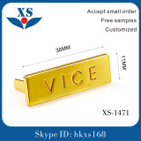 Het Etiket van het Metaal van de Brief van het gouden Plateren voor Handtas