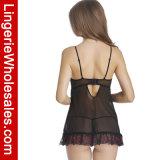 """Jogo Strappy da roupa interior do Nightwear do Babydoll do engranzamento de Underwire das mulheres """"sexy"""""""