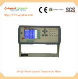 産業温度計の表示24チャネルの温度(AT4524)