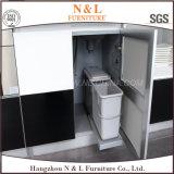 N & L tamanho e cor personalizados do armário da cozinha lustro elevado