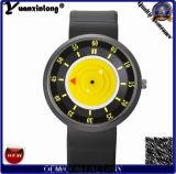 Relojes coloridos de goma de la marca de fábrica de la alta calidad de la voga del reloj de manera de la dial del nuevo silicio barato Yxl-428 para el reloj de cuero de las señoras de las mujeres de los hombres