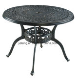 Il disegno moderno ha anodizzato la fusion d'alluminio che pranza il tavolino da salotto rotondo stabilito con il prezzo ragionevole