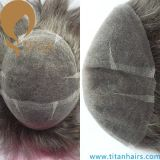 いろいろな種類のタイタンの毛のToupee人のための人間の毛髪のToupee