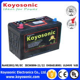 12V 90ah Mf van de Batterij van de Auto Karton van de Kleur van de Batterij van het Lood het Zure