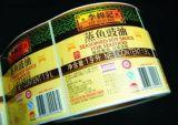 De vrije Ontwerp Gevormde Stickers van het Bevroren Voedsel van het Document Materiële