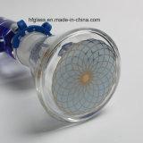 en nueva cachimba de la fábrica común Shisha 12 avanza a poquitos el Borosilicate de cristal del tubo de agua de 7m m que fuma Illadelph con la viruta de Milli en venta al por mayor azul