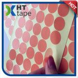 Cinta adhesiva del animal doméstico que corta con tintas de los puntos redondos laterales dobles del poliester