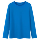 T-shirt de coton de tendance de loisirs de la chemise des hommes conçus neufs d'automne long