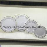, 식기 처분할 수 있는, 플라스틱 격판덮개 쟁반, PS 다채로운, 접시 SGS 의 최신 우표 격판덮개, PA-01