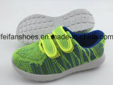 低価格および良質の子供のキャンバスの注入の靴(FFHH-092603)の新しいデザイン靴