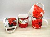 Taza de café de cerámica colorida de 12 onzas