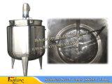tanque de mistura inferior cónico do aço 500L inoxidável com misturador 36rpm do raspador