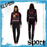 OEM Fashion Design Slim Fit Femmes Tracksuit Jogging Suit (TJ007)