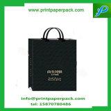 Noir élégant estampé de taille personnalisé par Papier d'emballage d'éclat de sac de présent de cadeau de papier d'emballage