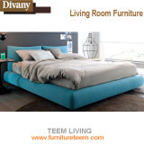 Re moderno Size Bed di legno solido