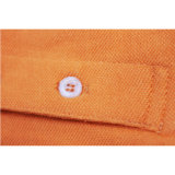 Qualitäts-kundenspezifische Orange100%cotton unbelegte Mens-Polo-T-Shirts