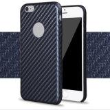 Caja dura de la PU de la fibra del carbón para el iPhone 6s más