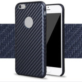 Carbon Fiber PU Hard Case for iPhone 6s Plus