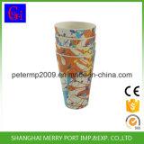 Cuvette en bambou en bambou colorée de poudre de cuvette de boissons de catégorie comestible