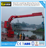 Wire-Luffing Electric Hydraulic 1t @ 31m Knuckle Telescopic Boom Ship Deck Crane