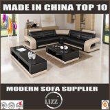 Cuero seccional L sofá de la venta superior de la esquina de la dimensión de una variable