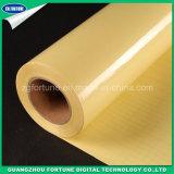 Película de estratificação fria lustrosa traseira do PVC do amarelo