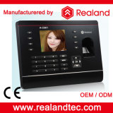 Sistemas biométricos do comparecimento do tempo da impressão digital de Realand com software livre