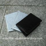 Caisse en cuir de détenteur de carte nommée d'unité centrale de noir neuf de modèle