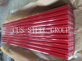 Telhadura de aço da cor ondulada da placa de telhado do metal de PPGI