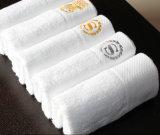 Хлопка мягко белые подгонянные логоса гостиницы полотенца 100% руки