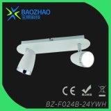 Blanco pintado, luz del punto de SMD LED, Metal+PC