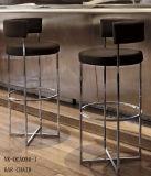 Cadeira inoxidável de venda quente da barra de aço do giro do lazer do hotel (NK-DCA043-1)