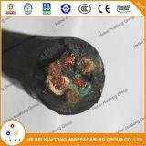 Cable aislado caucho flexible 14/3 de Soow del certificado de la UL