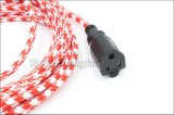 Da potência aprovada de matéria têxtil do UL cabo de extensão elétrico