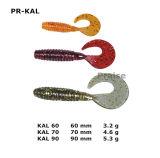 P.R.-Kal Attrait doux personnalisé de pêche de vis sans fin d'amorce artificielle