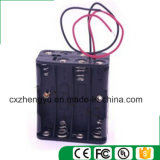 8AAA Batteriehalterung mit den roten/schwarzen Leitungen