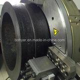分割フレーム、油圧モータ(SFM0814H)で切断し、面取り機