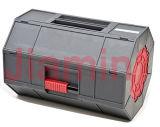 Серая и красная пластичная резцовая коробка магазина Rollling