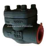 800lb forjó la válvula de verificación del NPT del extremo de cuerda de rosca del acero de carbón A105