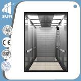 Velocidad 1.5m / S Todos los 304 de acero inoxidable ascensor de pasajeros comerciales