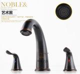 Faucet magnífico intemporal luxuoso antigo do misturador da bacia do Três-Furo Zf-337-4 do estilo de vida