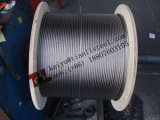 7/19 câble d'acier inoxydable