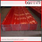 Hoja de acero prepintada acanalada primera del material para techos