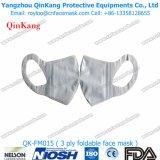 3ply Non-Woven外科マスクおよび医学のヘッドバンドプロシージャマスク
