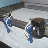 SGSは監査した編まれたラベルの切断(JM-1610T-CCD)のためのレーザーのカッターを