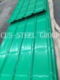 曲げられた鋼鉄屋根のプロフィールか金属の屋根ふきのクラッディングシート
