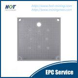Plaque de filtre-presse de chambre de la pression hydraulique pp