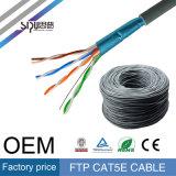 Sipu 4pairs interior del cable de LAN FTP Cat5e red de comunicación