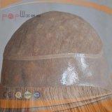 최신 판매 사람의 모발 가발 유형 100% 금발 머리 가득 차있는 Handtied 레이스 PU 국경 가발