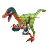 Малыши фасонируют крупноразмерному волшебному динозавру растущий игрушки